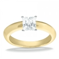 Adriana Yelllow Gold Solitaire Ring
