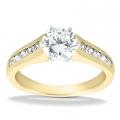 Alana Yellow Gold Round Diamond Ring