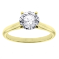 Alexis Yellow Gold Round Solitaire Ring