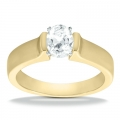 Allison Yellow Gold Oval Solitaire Ring