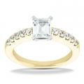 Ana Yellow Gold Emerald Diamond Ring