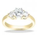 Anna Yellow Gold Round Diamond Ring