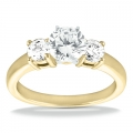 Arianna Yellow Gold Round Diamond Ring