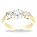 Aubrey Yellow Gold Oval Diamond Ring