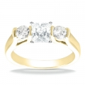 Audrey Yellow Gold Diamond Ring