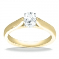 Bailey Yellow Gold Oval Solitaire Ring