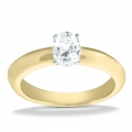 Bella Yellow Gold Oval Solitaire Ring