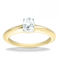 Brooke Yellow Gold Oval Solitaire Ring