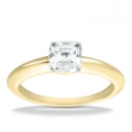 Brooklyn Yellow Gold Asscher Solitaire Ring