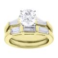 Callie Yellow Gold Round Diamond Ring