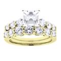 Camryn Yellow Gold Asscher Diamond Ring