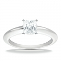 Evelyn White Gold Solitaire Ring