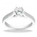 Gianna White Gold Solitaire Ring